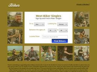Biker Dating Connexion Homepage Image