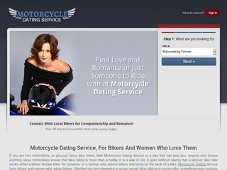 Motorcycle Dating Service Homepage Image